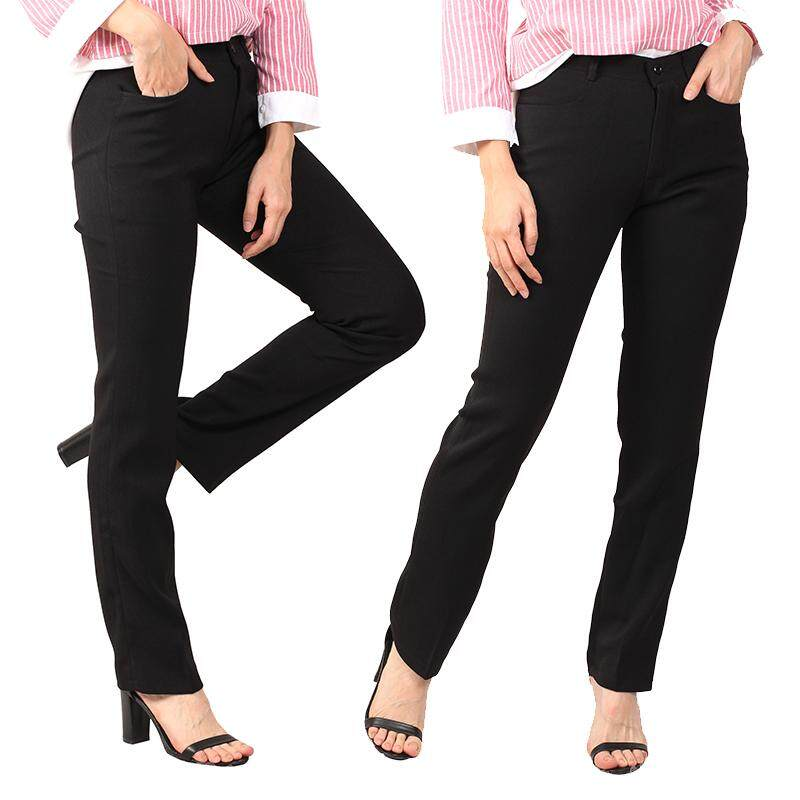 Women Black Slack Pants [M12339]