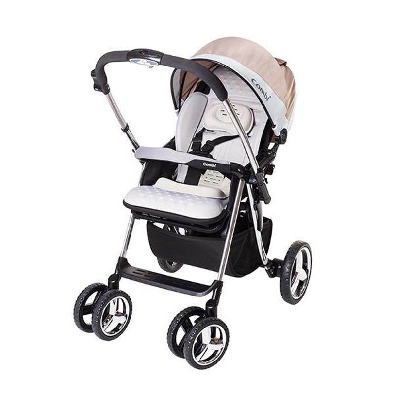 Combi Baby Stroller Mega Ride Deluxe Silver Ultra Absorbent Egg Shock Material