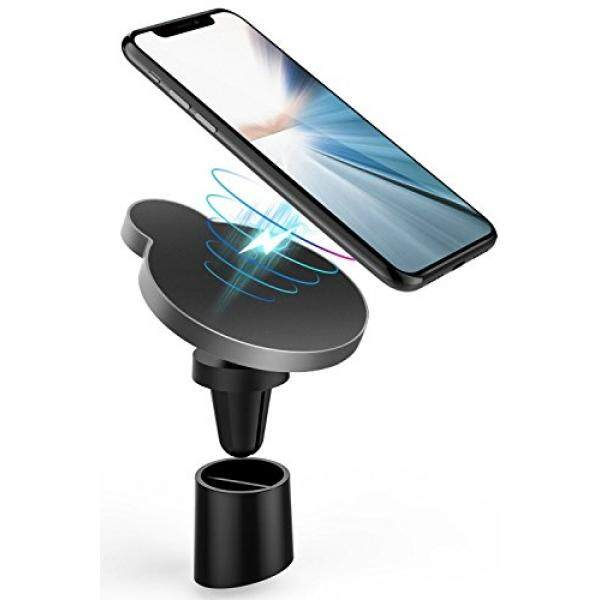 Magnetic Wireless Car Charger, 10W Qi Fast Charging Car Wireless Charger With Air Vent & Base Mount for Apple iPhone X/8/8 Plus, Samsung Galaxy S8/S8 Plus/S7/S7 Edge/Note 8/7/5 All Qi-Enabled Devices