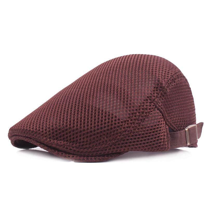 2521e9fc Men Breathable Mesh Summer hat Newsboy hat Ivy Cap Cabbie Beret Irish Flat  Cap