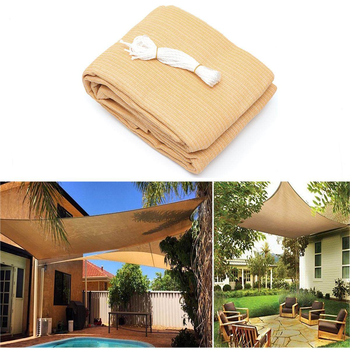 3*4m 280gsm HDPE Sun Shade Sail Cloth Canopy Awning Shelter Outdoor