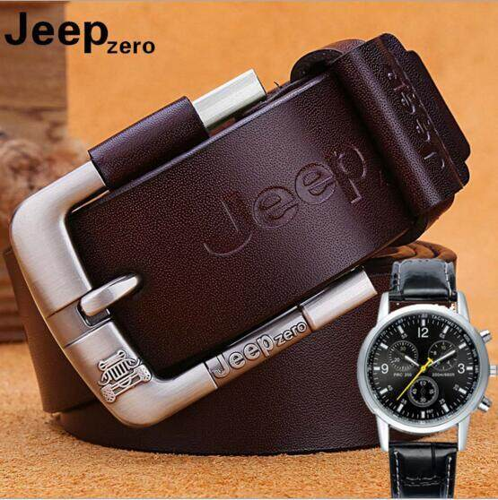 Great Promotion ! Buy One Get One Watch 2019 New Fashion Men's Genuine Leather Buckle Belt For Men (black) By Yfcgood&store.