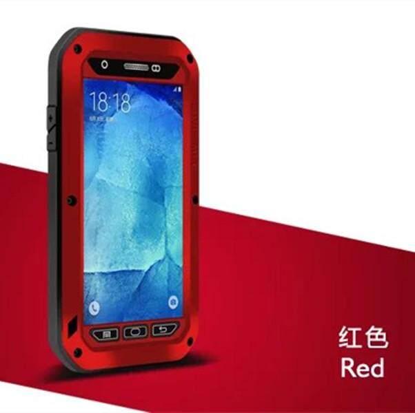 Tahan Guncangan Tahan Debu Tahan Air Logam Campuran Aluminium Kaca Antigores Cover Case untuk Samsung Galaxy A8 A8000-Intl