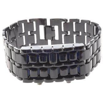 Pencari Harga Blue LED Digital Black Lava Style Wrist Watch Iron Metal Samurai Men with Box terbaik murah - Hanya Rp57.760