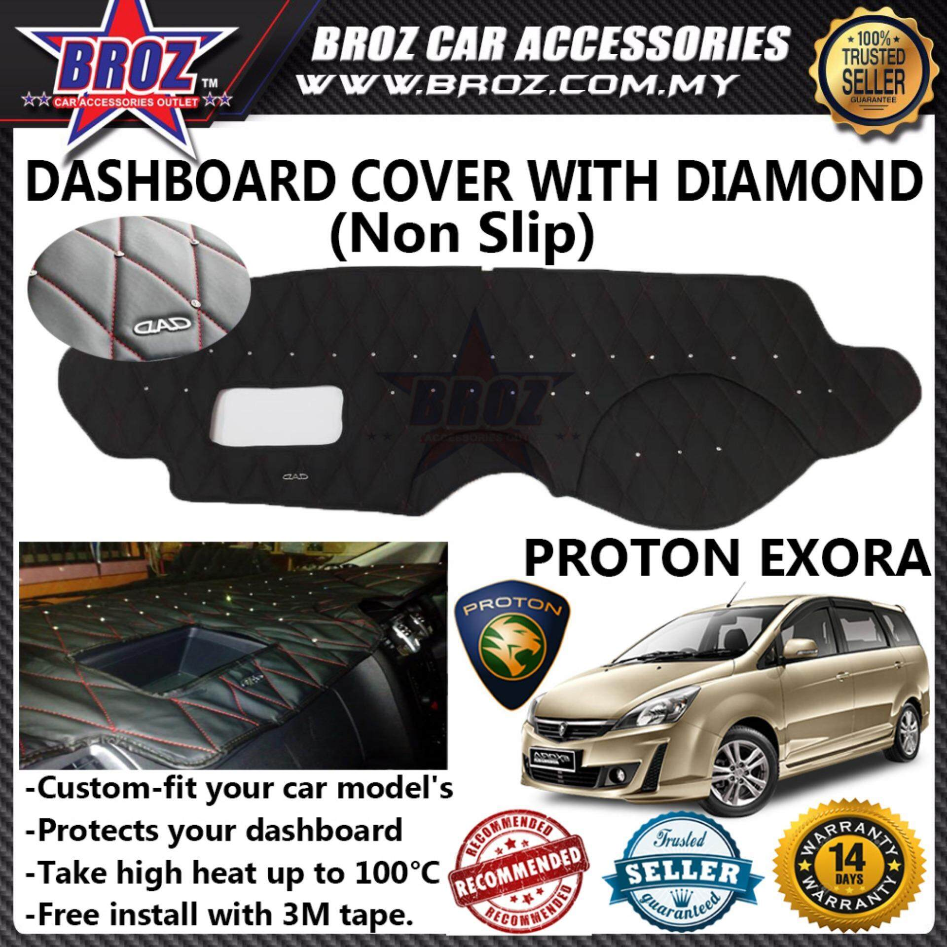 Non Slip Dashboard Cover with diamond for Proton Exora