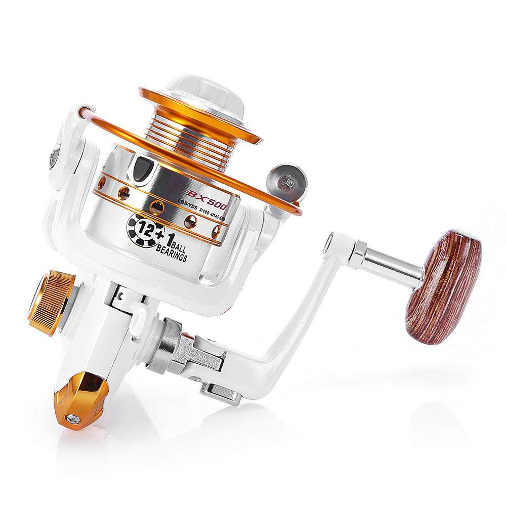 Spinning Reel Pancing 12BB + 1 Bantalan Bola Gulungan Logam Rol Gulung Perahu Rock Roda Pancing BX500-9000 Series