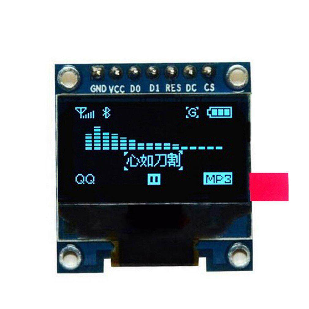 0.96 inch SPI Serial 128X64 OLED LCD Display SSD1306 for 51 STM32 Arduino Font Color Yellow and Blue - intl