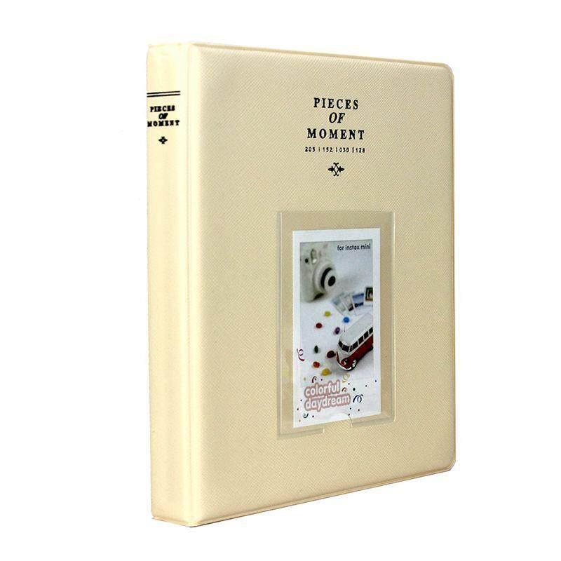 128 Pockets Photo Album for Mini Fuji Instax 70 7s 8 25 50s 90, Polaroid Z2300, Polaroid PIC-300P Film (Beige)