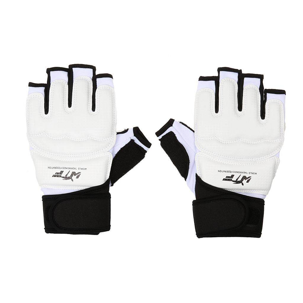 Miracle Shining Kids Adult Half Finger Boxing Muay Thai Gym Gloves Padded Hand Protector M -