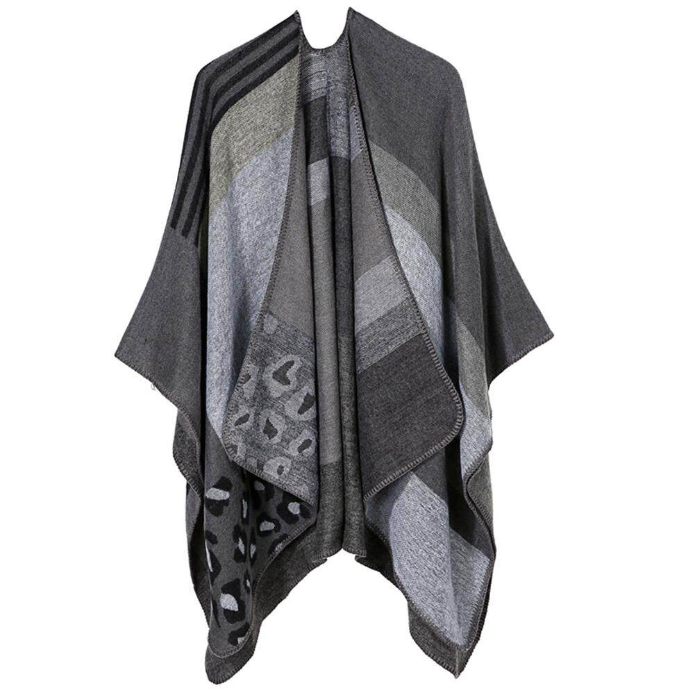 Hình ảnh thu nhỏ Big Sale Thickened Tippet Lengthen Cloak Imitation Cashmere Shawl for Fall/