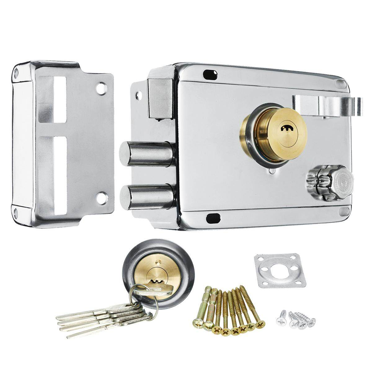 Exterior Iron Door Locks Security Anti-theft Lock Multiple Insurance Lock Wood Gate Lock For Furniture Hardware - intl