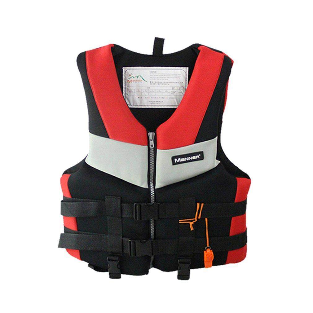 Bán ELEC Adults Life Jacket Universal Swimming Boating Skiing Drifting Foam Vest M red