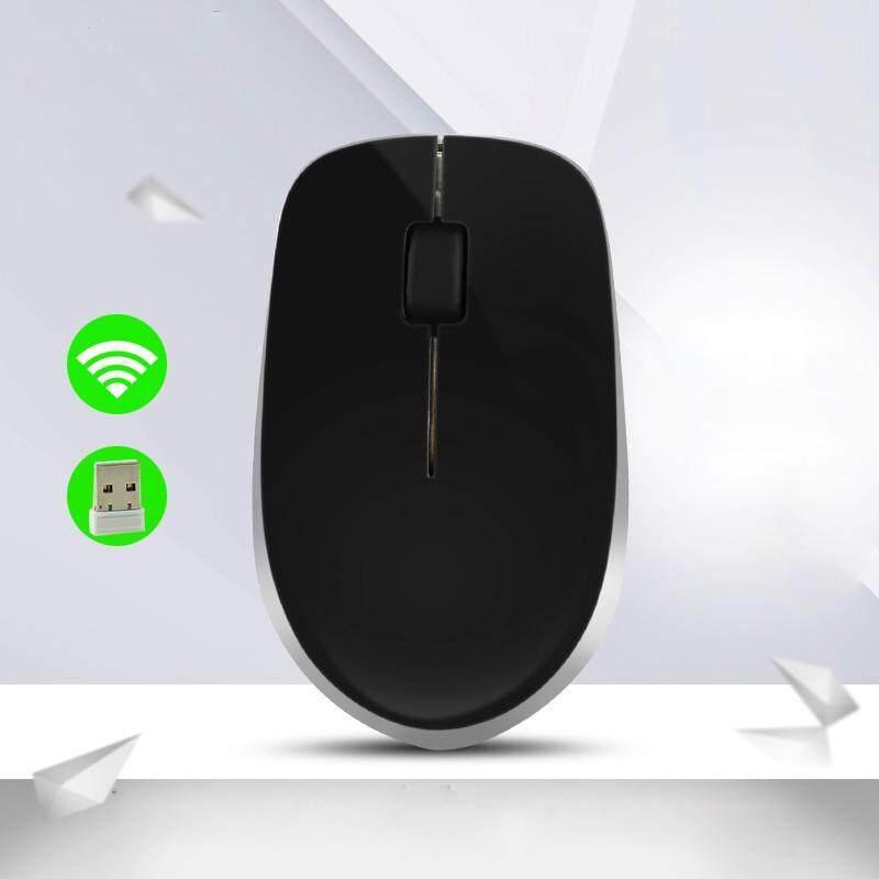 W4 2.4G 3 Keys 1600DPI Optical Ergonomic Wireless Slim Mouse with USB Receiver