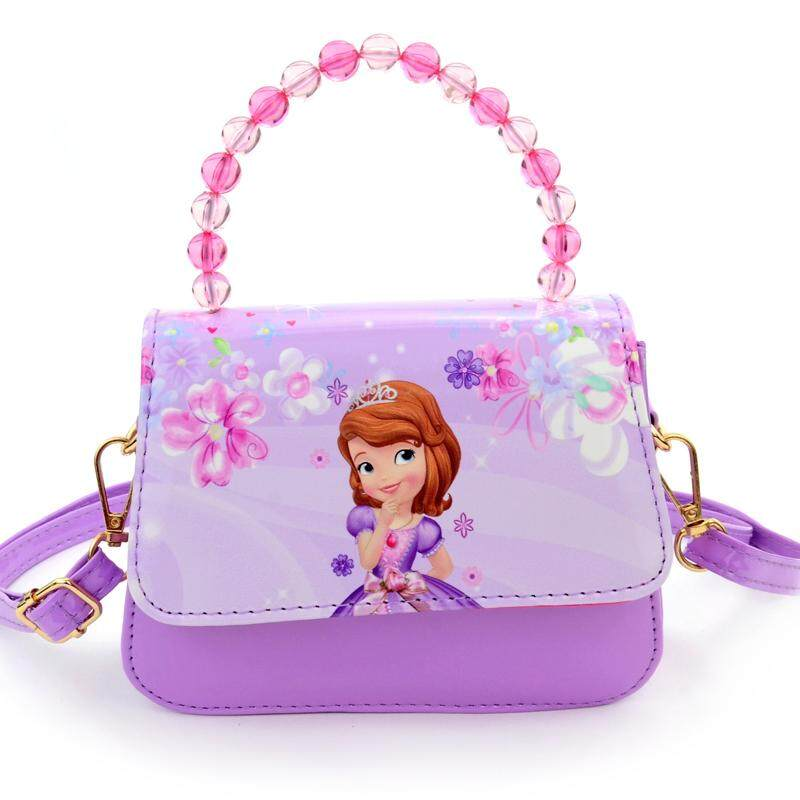 Childrens Bag Princess Fashion Girls Shoulder Bag Kids Sofia Cartoon Pig Korean Style Handbag Shoulder Bag