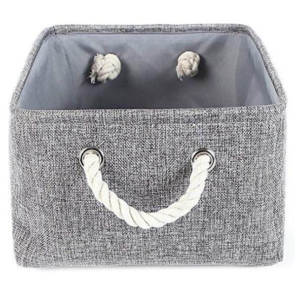 Storage Basket Canvas Storage Bins for Toy Storage,Grey -L - intl