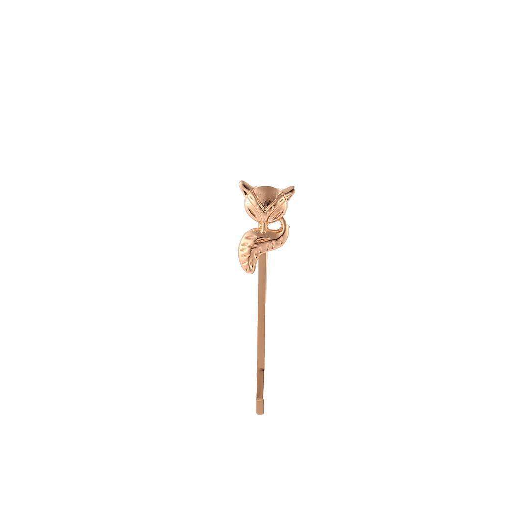 Toprank Women Fashion Alloy Animals Bird Cat Fox Deer Hairpin Hair Clips - intl