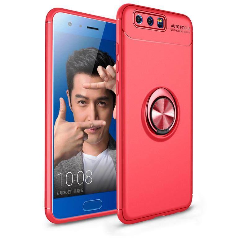Logam Cincin Braket Magnetis Ponsel Casing untuk Huawei Kehormatan 10 Lite Lembut TPU Zirah Silikon Tahan