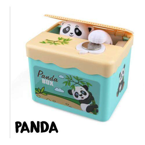 (Panda)Electronic Mischief Cartoon Stealing Coin Saving Box