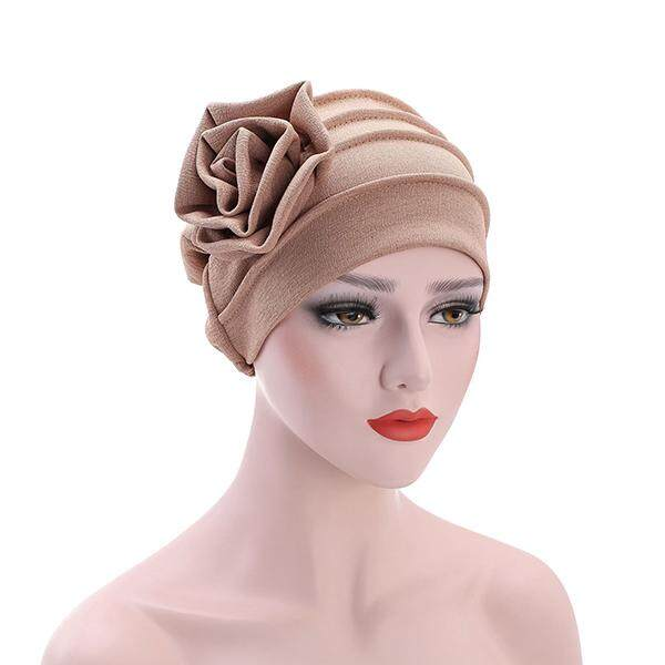 917ae6fe4f2 Women s Hats Side Large Flower Turban Beanies Cap Casual Warm Head Wrap Chemo  Hats For Women