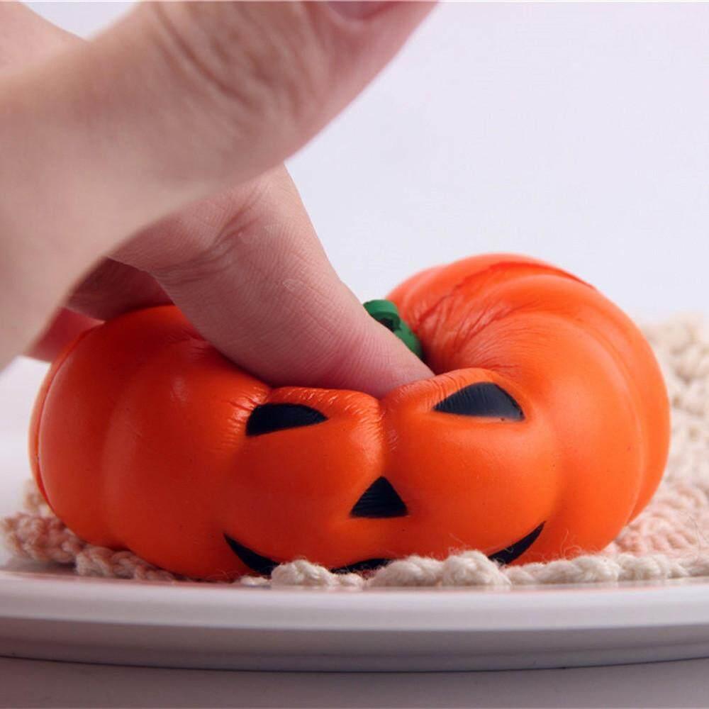 Tertran Halloween Lembut Labu Kartun Licin Lambat Rising Squeeze Mainan Tali Telepon