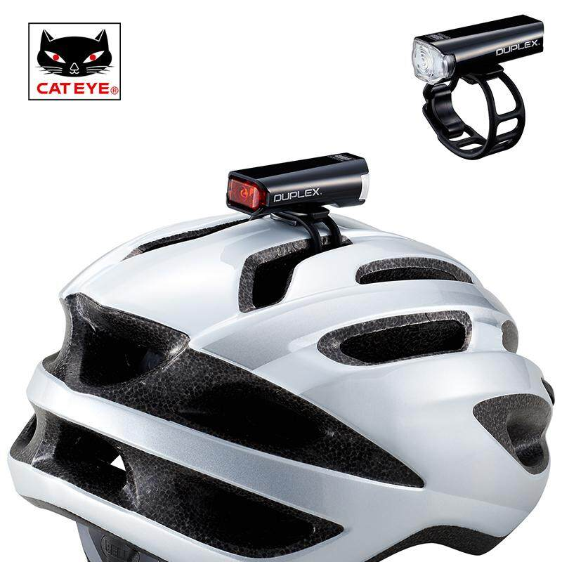 CATEYE Bicycle Headlights Double Sided Bicycle Front and Rear Warning Lights Full Flash LED Bike Helmet