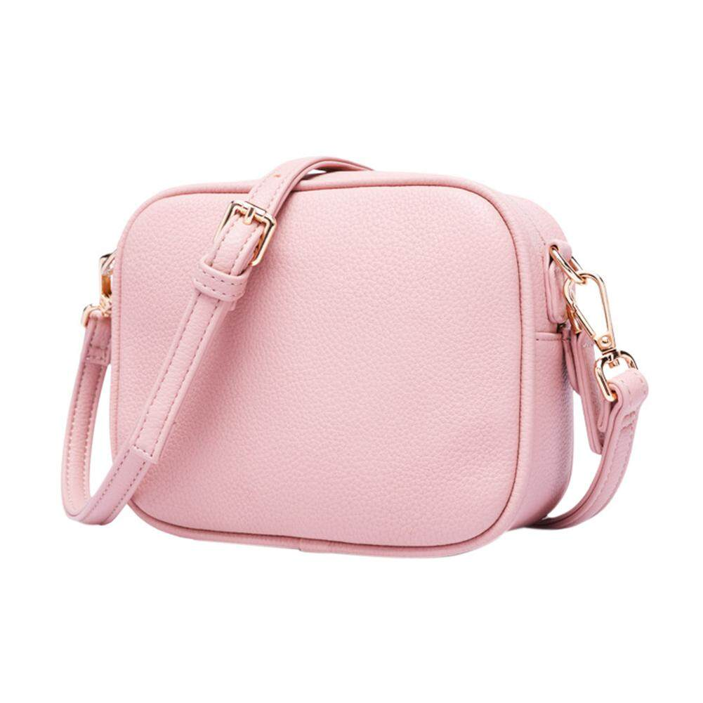 กระเป๋าถือ นักเรียน ผู้หญิง วัยรุ่น เลย HiQueen Lady Small Fashion Shoulder Bag Simple Style Small Square Crossbody Bag PU Leather Women Messenger Satchel Bag