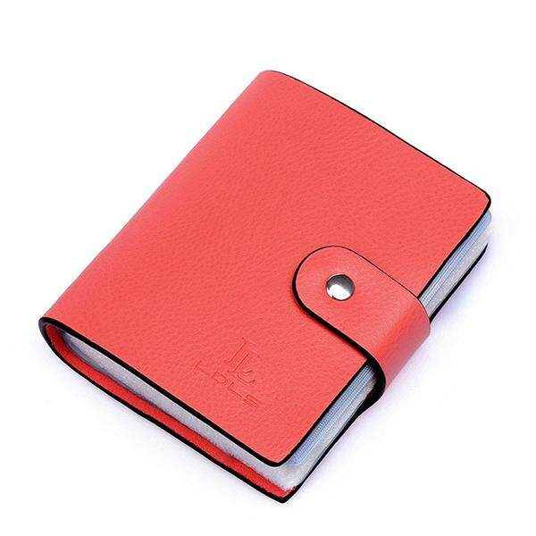 Women Unisex Genuine Leather Fashion 60 Card Slots Large Capacity Card Holder - Intl By Audew.