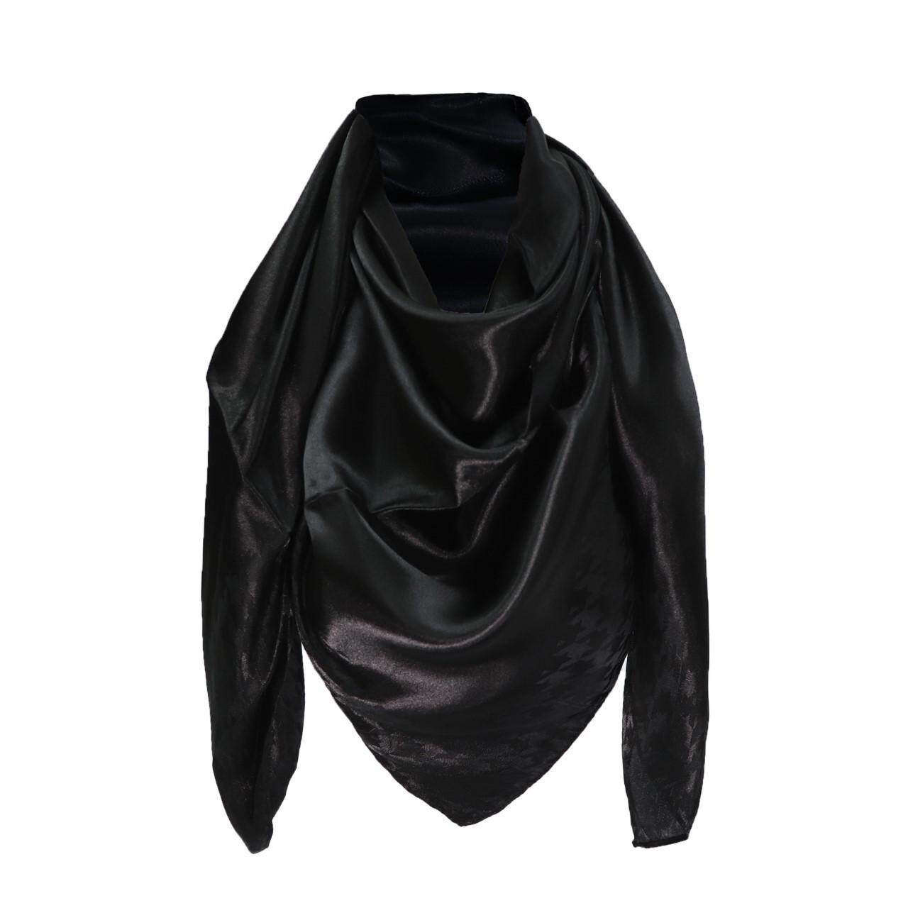 SATIN SILK RANIA SQUARE SCARF-Hoodstooth