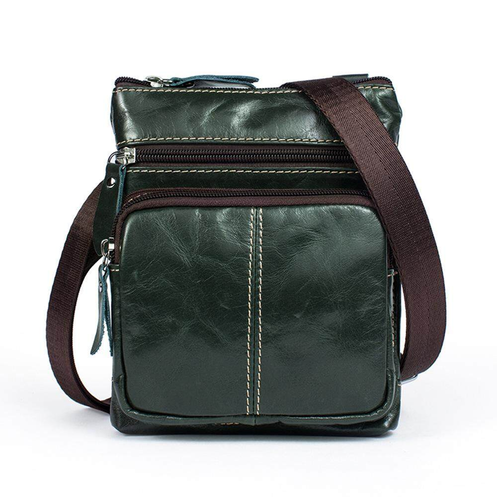 570d8a0593b5d Men s Vintage Genuine Leather Casual Satchel Bag Crossbody Bag Shoulder  Messenger Bag Coffee