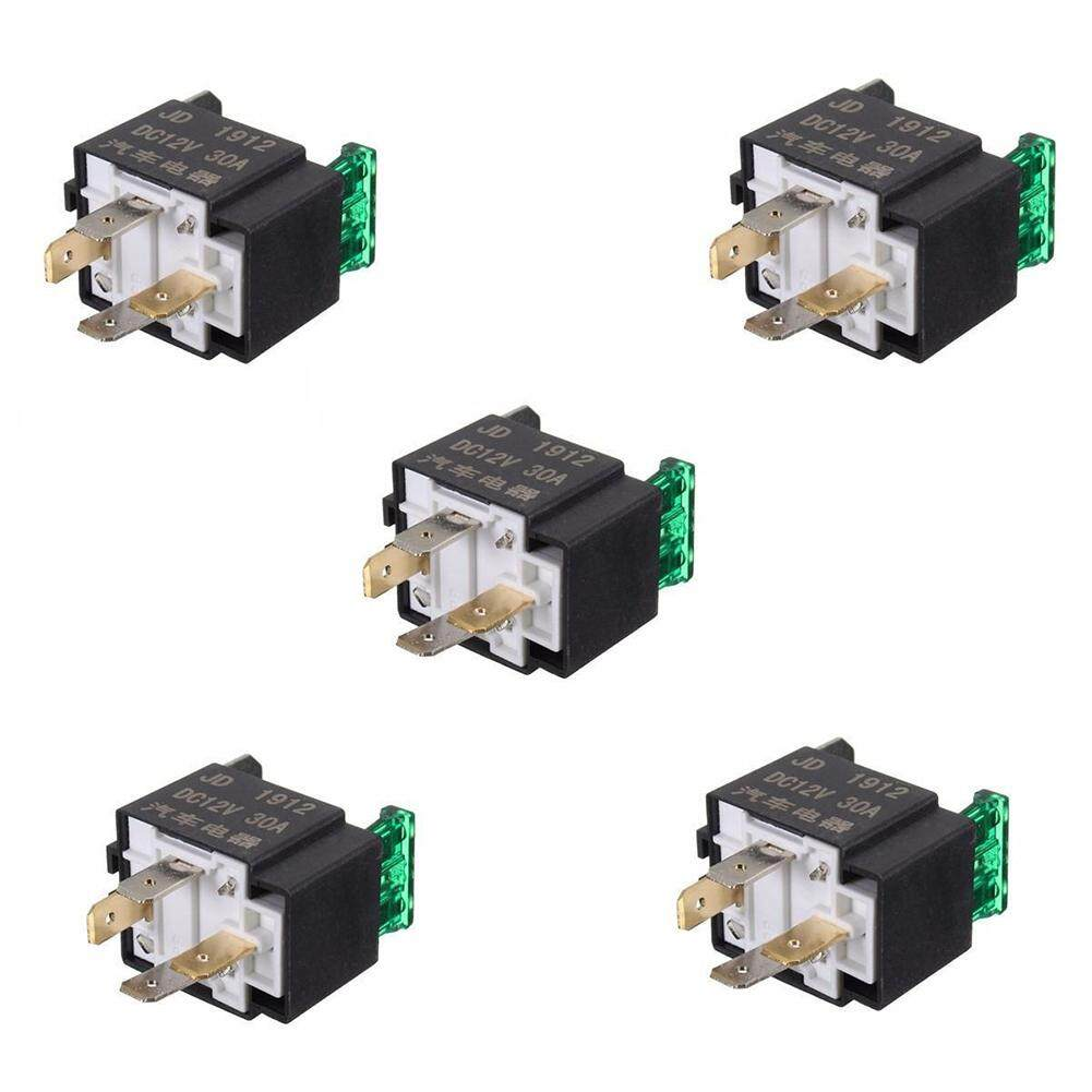 Buy Sell Cheapest 12v Relay 4 Best Quality Product Deals Pin With Fuse 5pcs 30 Amp Car Vehicle Auto Metal Heavy Duty Fused Spst
