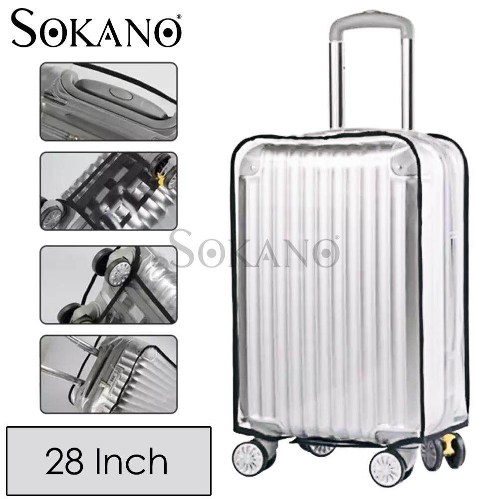 SOKANO Luggage Suitcase Protective Cover Anti Dust Waterproof Transparent PVC Luggage Bagasi Cover