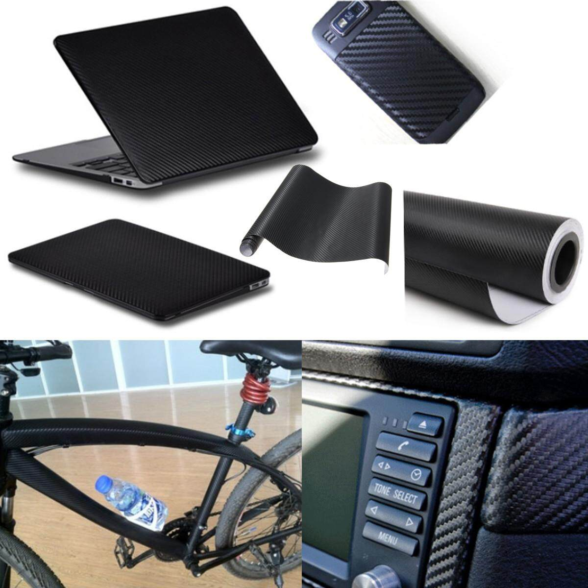 3d Carbon Fiber Vinyl Diy Car Wrap Sheet Roll Film Sticker Decal Black 12 X 50 By Moonbeam.