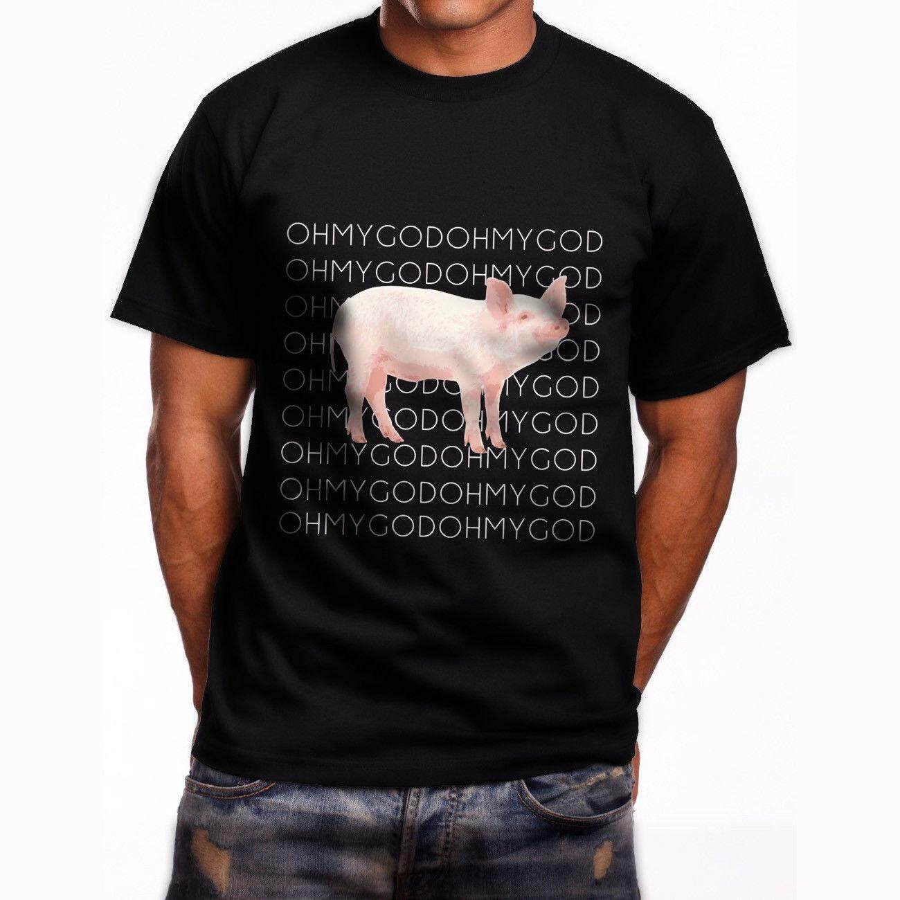 952941831d Oh My God Pig Shane Dawson What's Up Guys Humor Mens T-Shirt Black