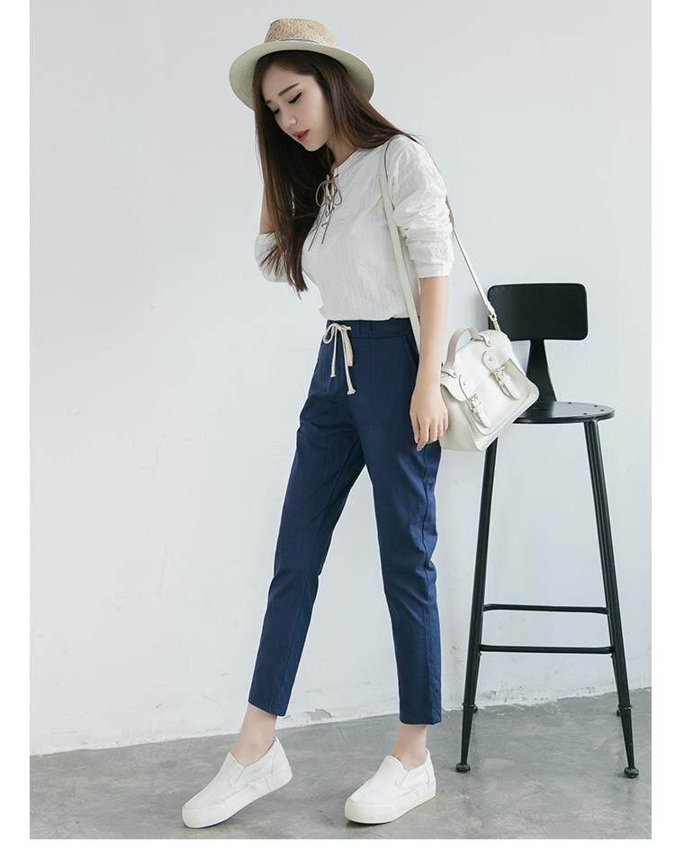 New Korean style Elastic Waist Harem Pants Feet Pants afc35b367618