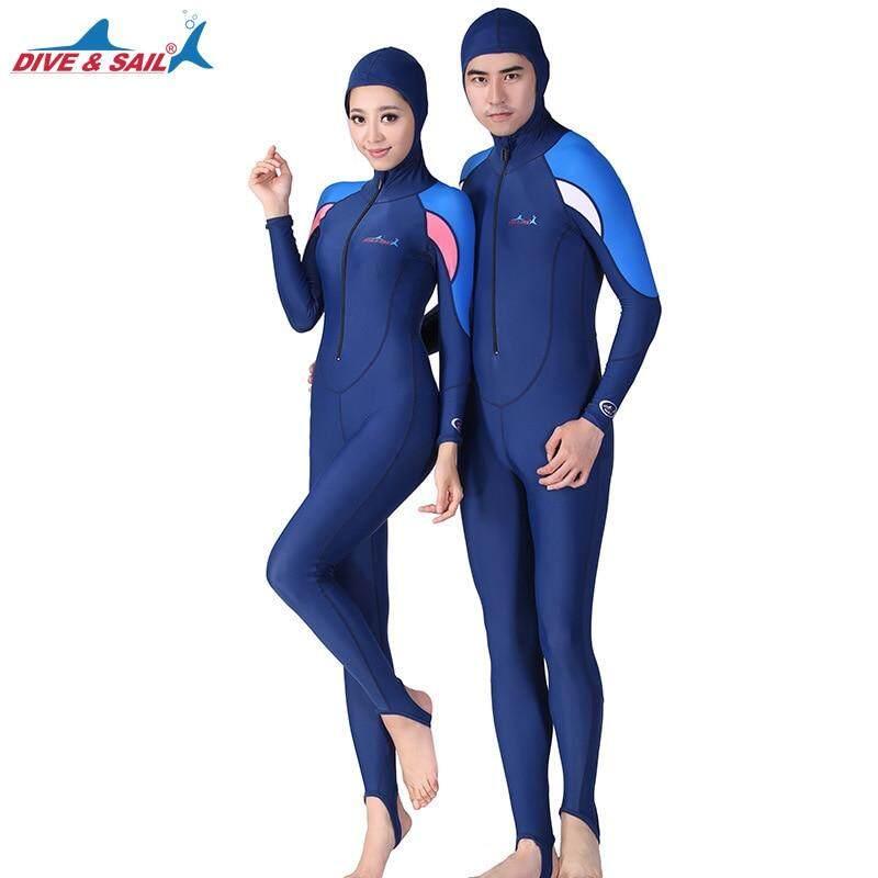 Full body Summer Swimsuit UPF 50+ Rushguard Wetsuits Lycra Diving Skin Men  Women Jumpsuit Long 1452c47ef