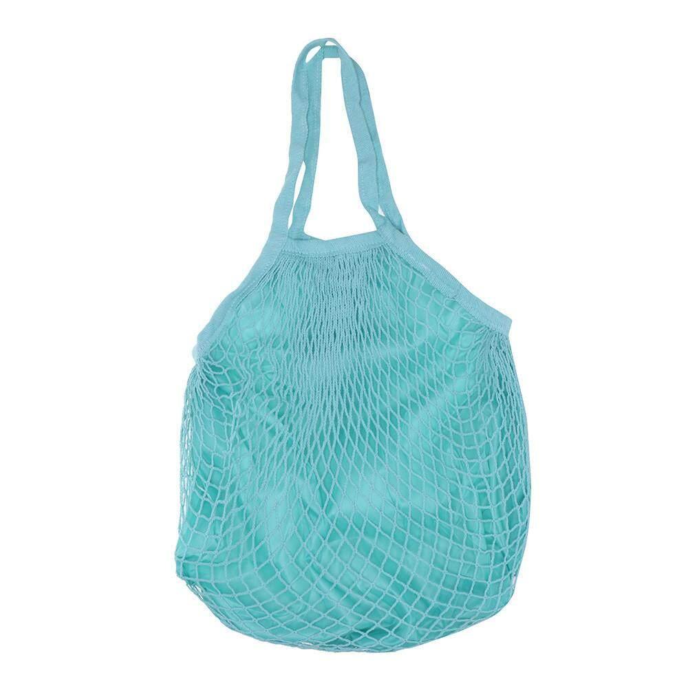 Senteniced Double Layer Reusable Fruit Grocery Shopper Tote Mesh Woven Net Shoulder Bag BK