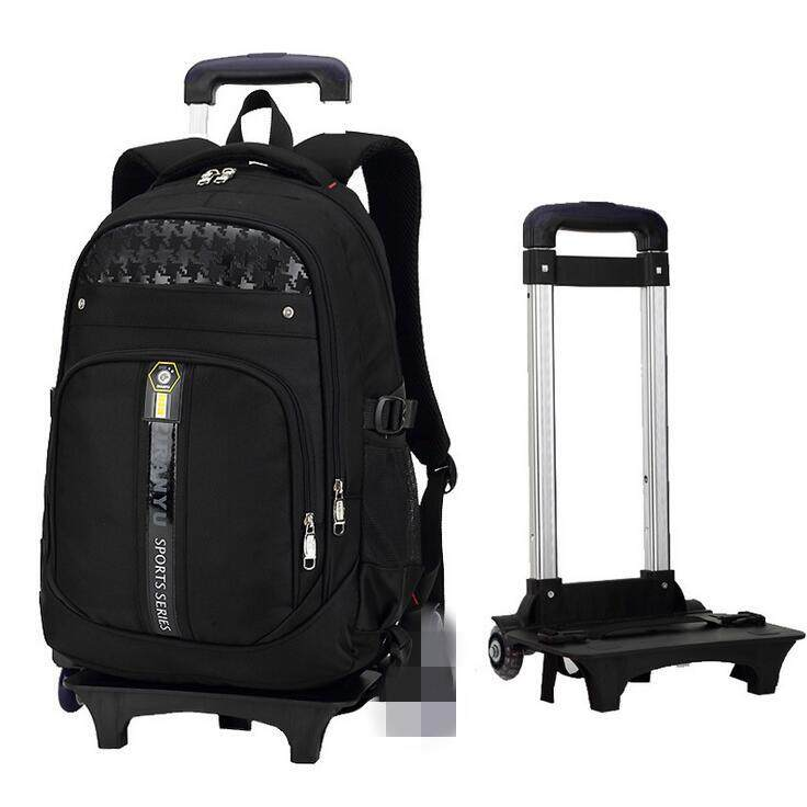 Boys Girls Trolley Backpack School Student Bag Travel Pack with 2 Rolling Wheels