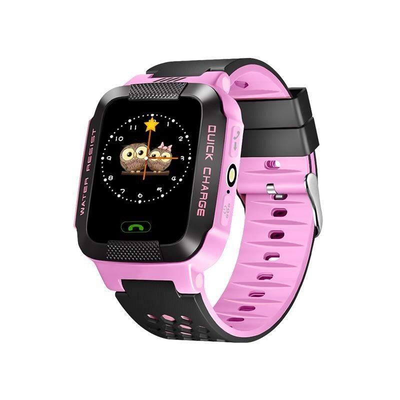 Nơi bán Màn hình cảm ứng bakeey Y21 trẻ em Kid lbs SOS gọi vị trí thiết bị theo dõi đồng hồ thông minh-màu hồng