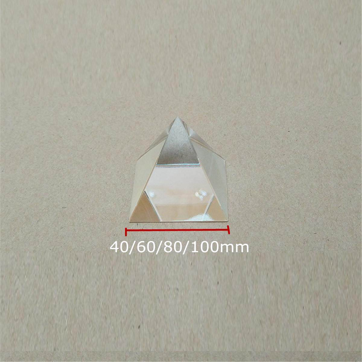 40mm Optical Glass Prism Beam Splitter Crystal Pyramid for Science Optics DIY#60mm - intl