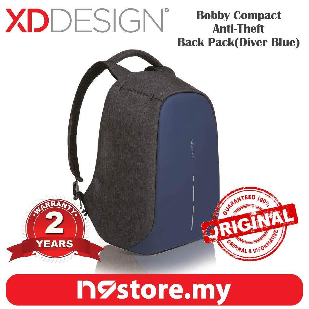 XD Design Bobby Compact Diver Blue Anti-Theft Cutproof Backpack