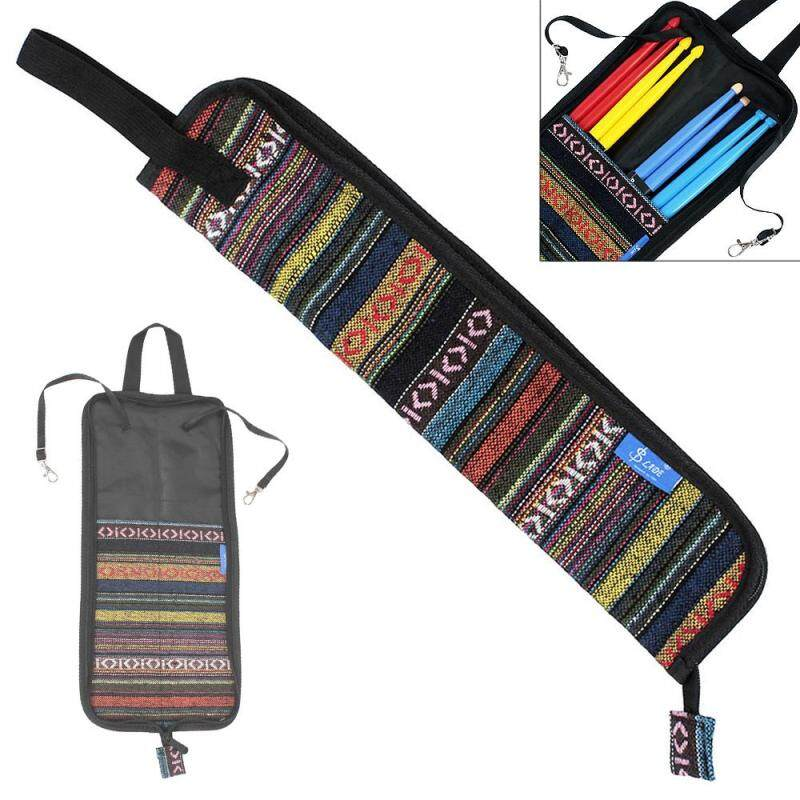 Portable Folk Style Knitted Drum Stick Gig Bag Drumsticks Storage Case Percussion Accessories