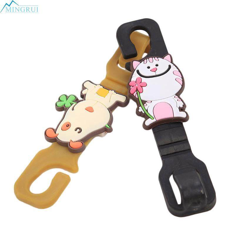 2pcs Headrest Hook Car Seat Hanger Cat&dog Shaped Plastic Coat Cute Accessories By Mingrui.