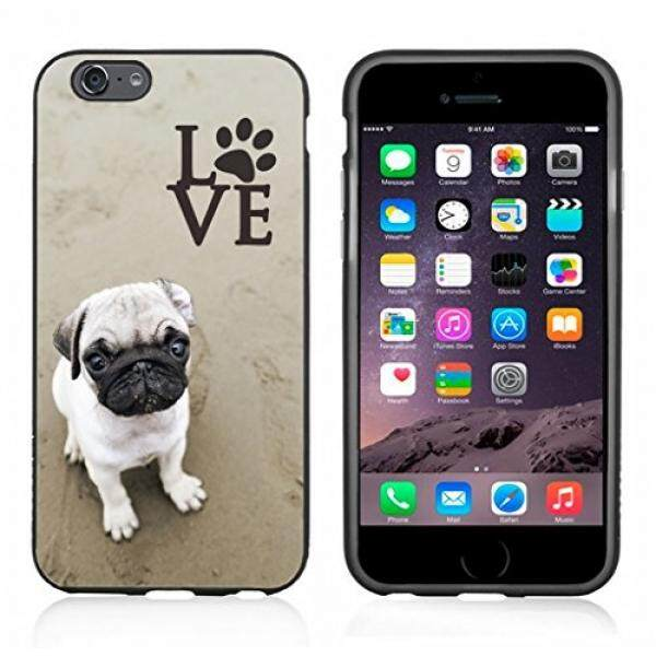 Smartphone Cases Pug Love With Paw Case / Cover For Iphone 6 or 6S by Atomic Market - intl