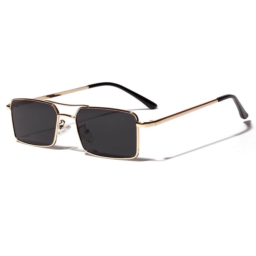 2deac99ee8fb Gold Rectangular Sunglasses Men 2019 Metal Frame Men Retro Small Square Sun  Glasses for Women Retro