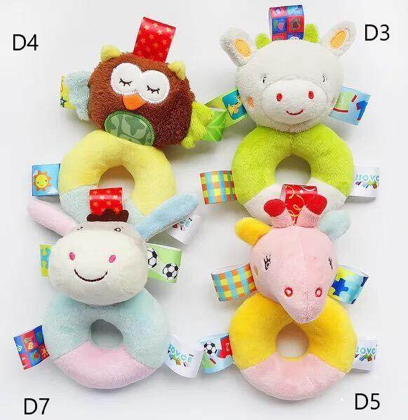 Soft toy for baby with ring