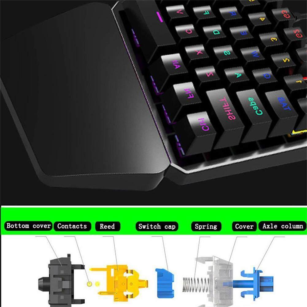 Kelebihan Single Hand 35 Keys Usb Gaming Mechanical Keyboard Led Rexus K1 Backlight For Pubg 4