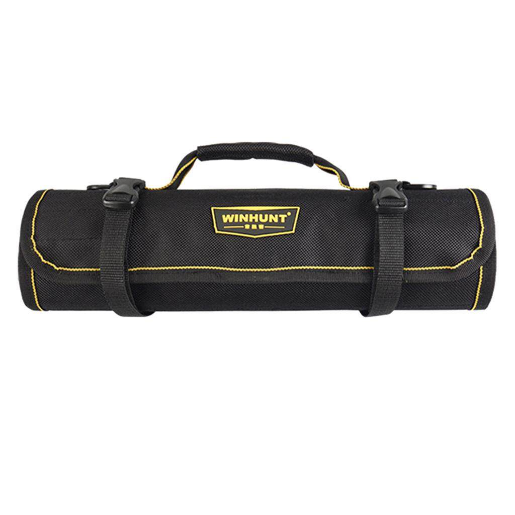 MagiDeal Multi Pockets Electrical Tool Bag Folding Tool Roll Wrap Utility Storage Bag