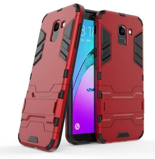 Plastik Keras + TPU Kombo Hibrida Armor Pelindung Penutup Belakang Case untuk Samsung Galaxy J6 2018