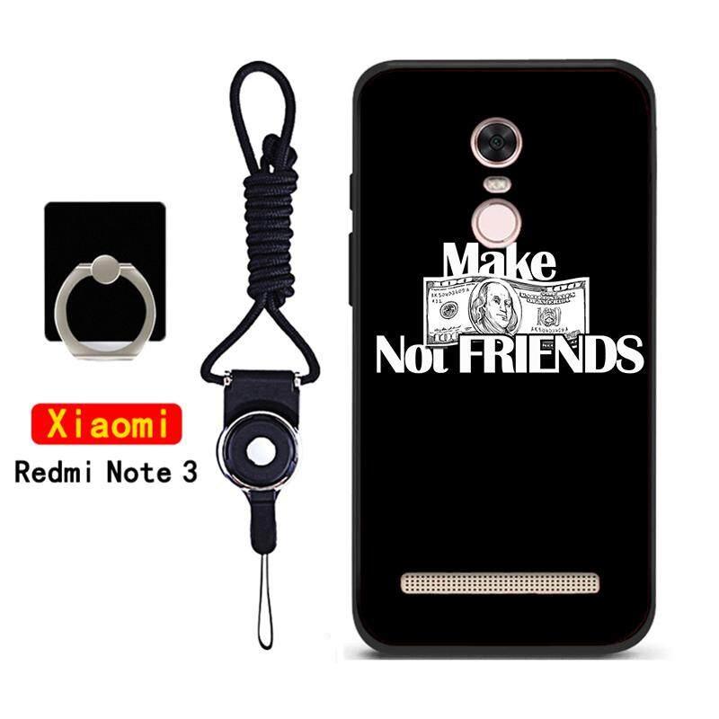Casing Ponsel untuk Xiaomi Redmi Note 3 Silikon Lembut Penutup Belakang dengan Tali dan Ring