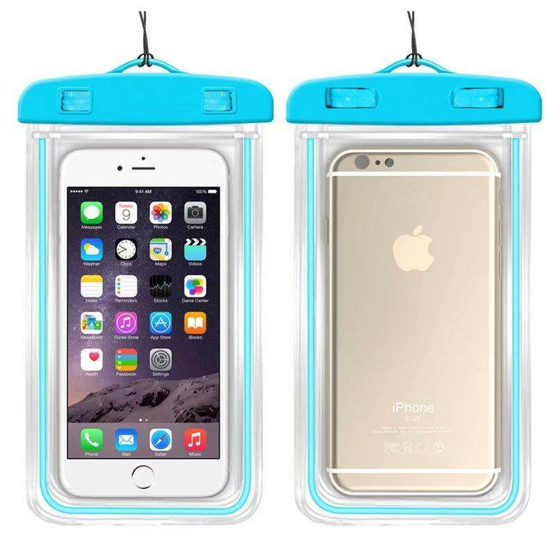 Universal Waterproof Phone Bags For Alcatel 1C Soft Clear Pouch Case Sport Diving(Suitable for 6 inches below) - intl